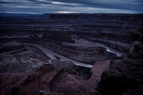 Canyonlands after sunset