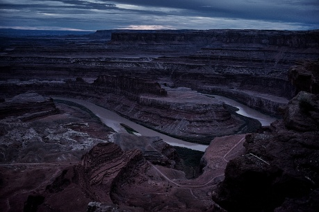 Canyonlands after sunset