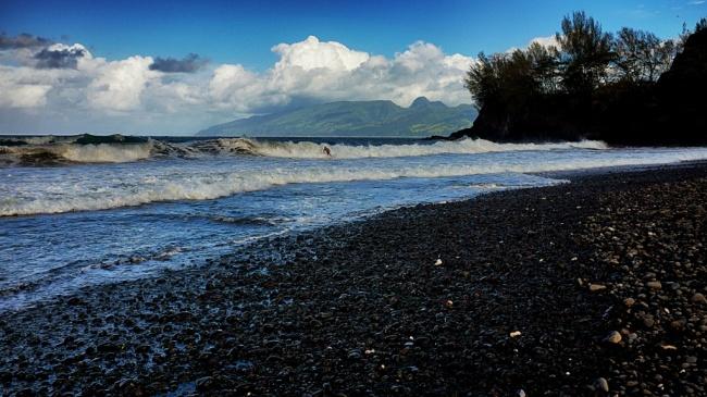 Tahiti black sand